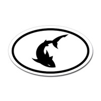 Sharks Oval Sticker #9