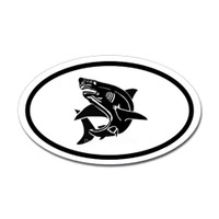 Sharks Oval Sticker #10