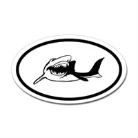 Sharks Oval Sticker #11
