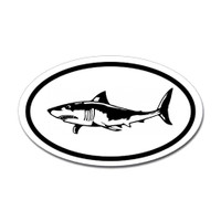 Sharks Oval Sticker #12