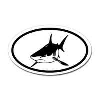 Sharks Oval Sticker #14