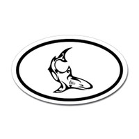 Sharks Oval Sticker #15