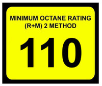 Minimum Octane Rating 110