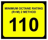 Minimum Octane Rating 110