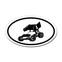 Racing Oval Sticker #6