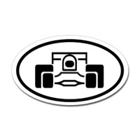 Racing Oval Sticker #7