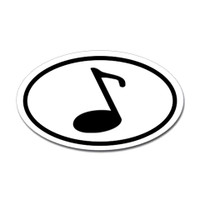Music Oval Sticker