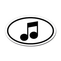 Music Oval Sticker #2