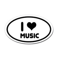 Music Oval Sticker #21