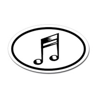 Music Oval Sticker #23