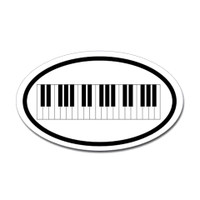 Music Oval Sticker #27