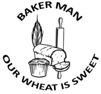 Baker Man Wheat Decal