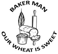 Baker Man Wheat Decal