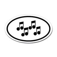 Music Oval Sticker #26