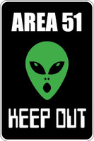 Area 51 Keep Out Sign