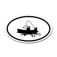 Fishing Oval Sticker #22