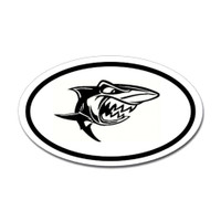 Sharks Oval Sticker #3