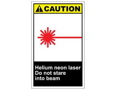 ANSI Caution Helium Neon Laser Do Not Stare Into Beam #0: cautv134 helium neon laser do not stare into beam 380 380 c=2