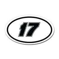 Racing Oval Sticker #8