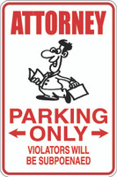Attorney Parking Only