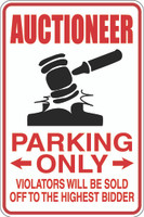 Auctioneer Parking Only
