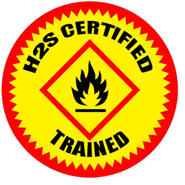 H2S Certified Trained Hardhat Sticker