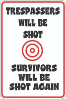 Trespassers Will Be Shot Survivors Will Be Shot Again