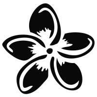 Plumeria Flower Decal