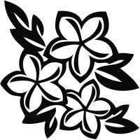 Plumeria Flower Decal #2