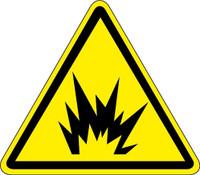 Arc Flash Hazard (ISO Triangle Hazard Symbol)