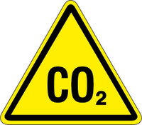 CO2 Hazard (ISO Triangle Hazard Symbol)