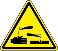 Corrosive Material Hazard (ISO Triangle Hazard Symbol)
