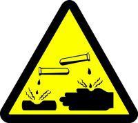 Corrosive Acid Hazard (ISO Triangle Hazard Symbol)