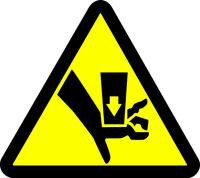 Crush Hazard (ISO Triangle Hazard Symbol) #1
