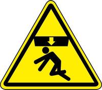 Crushing Of Body Hazard (ISO Triangle Hazard Symbol)