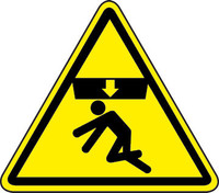 Crushing Of Body Hazard (ISO Triangle Hazard Symbol)