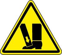 Crushing Of Toes/Foot Hazard (ISO Triangle Hazard Symbol)