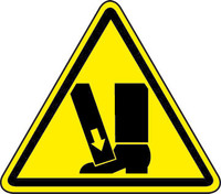 Crushing Of Toes/Foot Hazard (ISO Triangle Hazard Symbol)