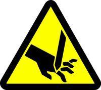 Cut Or Sever Hazard (ISO Triangle Hazard Symbol)