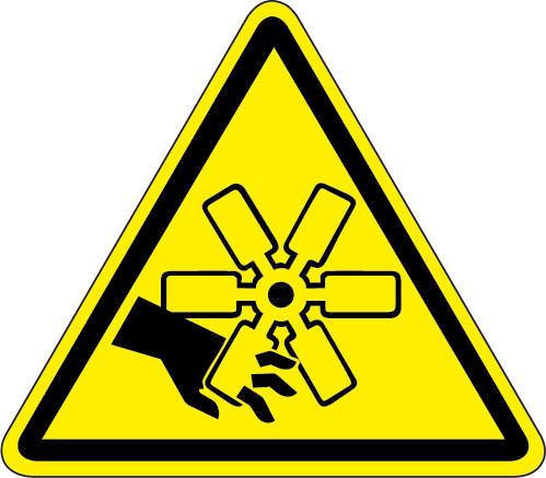 Cut Or Crush Hazard Iso Triangle Hazard Symbol
