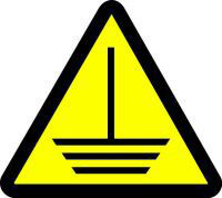 Electric Ground Hazard (ISO Triangle Hazard Symbol)