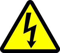 Electric Voltage Hazard (ISO Triangle Hazard Symbol)