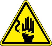 Electric Shock Hazard (ISO Triangle Hazard Symbol)