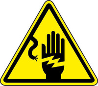 Electric Shock Hazard (ISO Triangle Hazard Symbol)