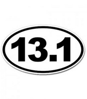 13.1 Runner Oval Sticker