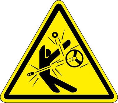 High Speed Moving Parts Hazard Iso Triangle Hazard Symbol