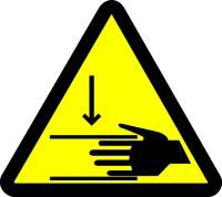 Crush Hazard (ISO Triangle Hazard Symbol)