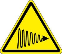 UV Light Hazard (ISO Triangle Hazard Symbol)