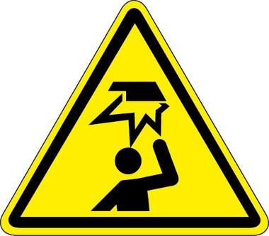 Watch Your Head Hazard Iso Triangle Hazard Symbol
