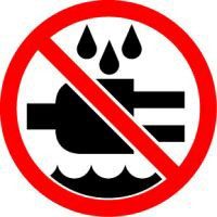 Do Not Expose To Water (ISO Prohibition Symbol)